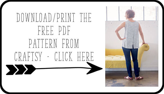 print the pattern free tank pattern for women