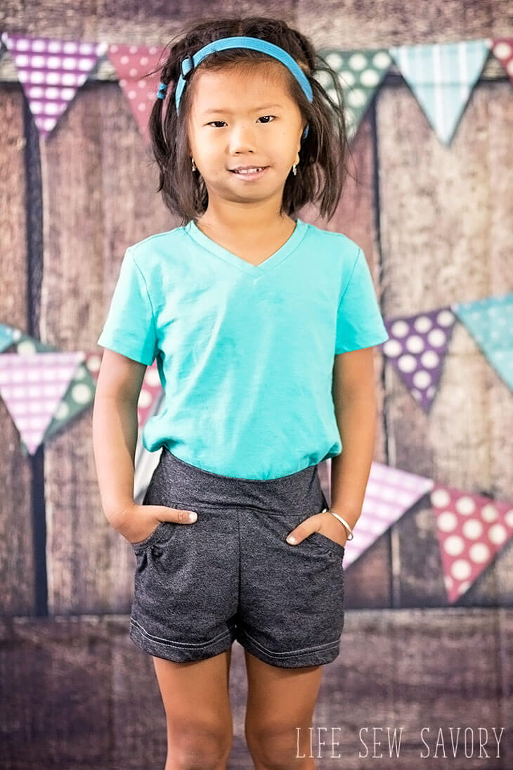 free shorts sewing pattern for girls