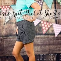 Free Shorts Sewing Pattern - for Girls