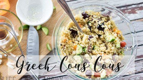 cous cous salad with greek flavors
