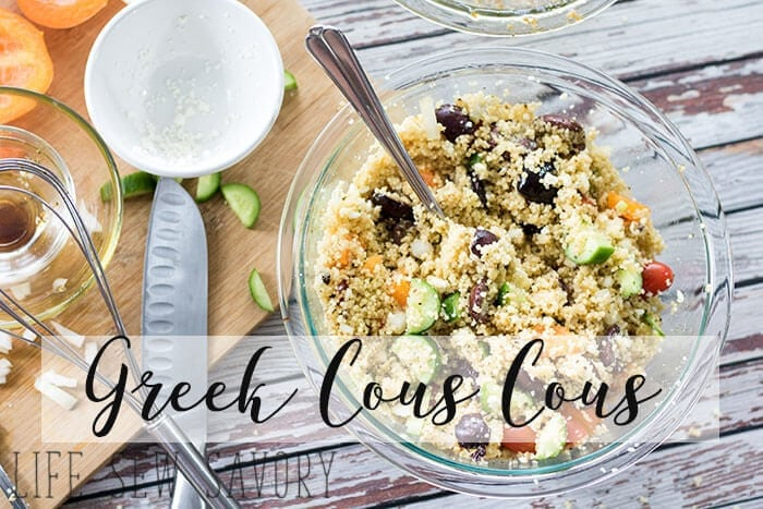 cous cous salad with greek flavors