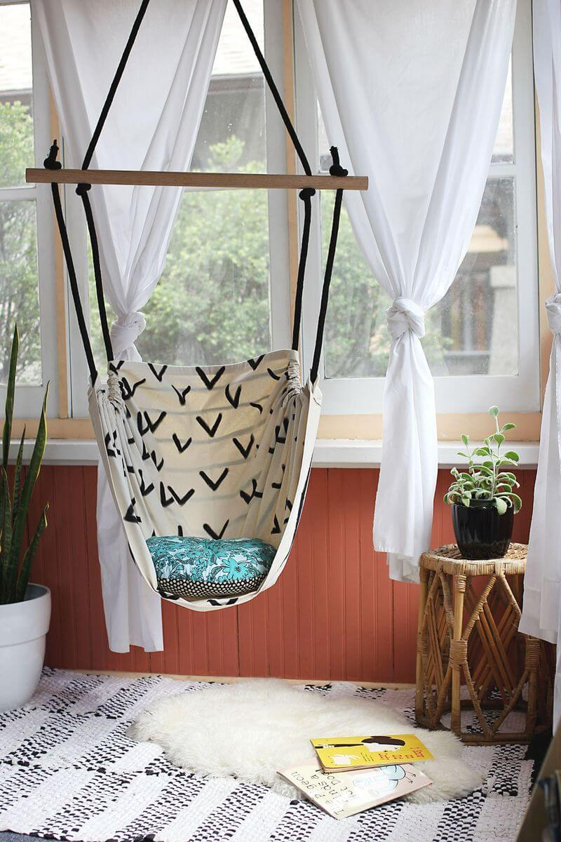 DIY hammock chair sewing tutorial