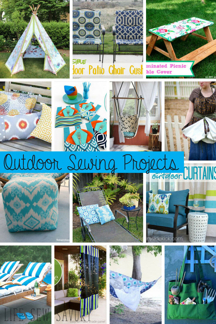 outdoor sewing projects tutorials and inspiration from Life Sew Savory