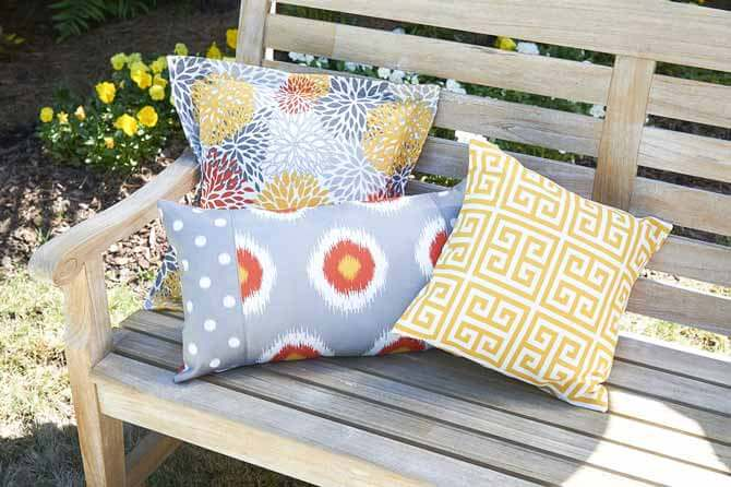 outdoor pillows sewing tutorials