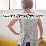 Tank Top Sewing Pattern – Women's Cross Back