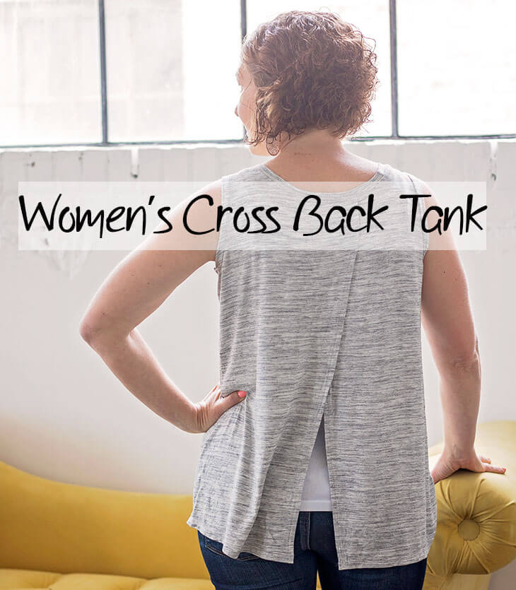 Tank Top Sewing Pattern - Women's Cross Back