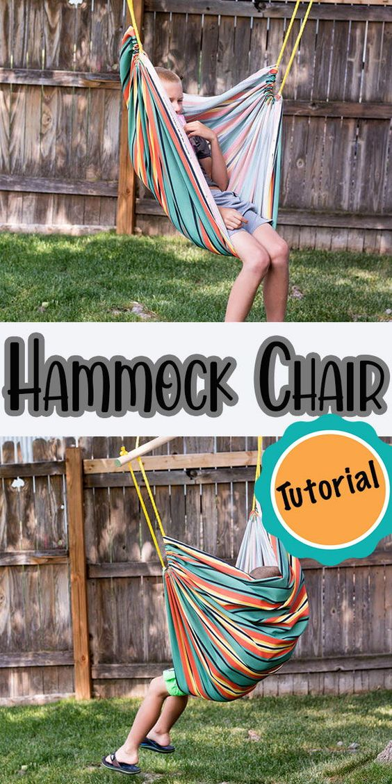 The kids have been patiently waiting weeks for me to finish this DIY hammock chair.