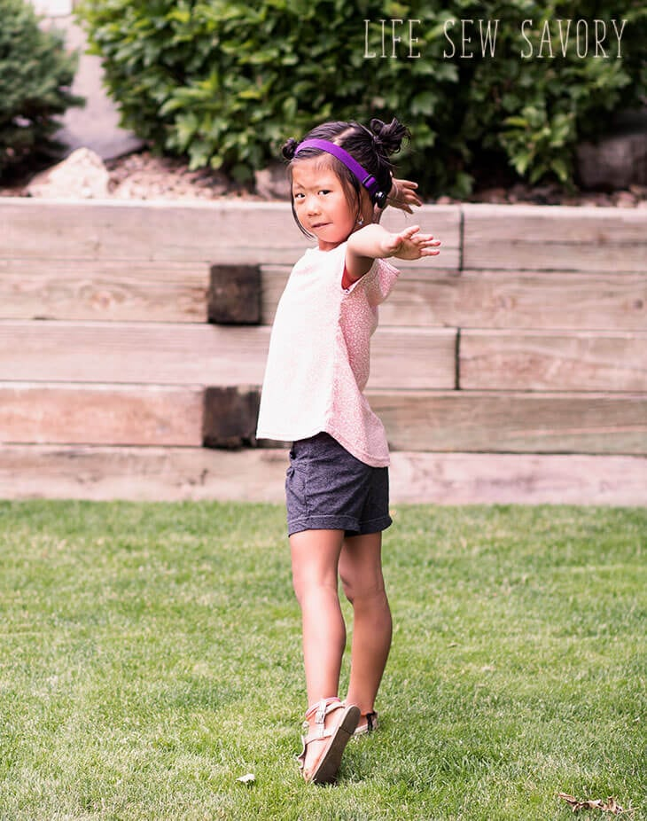 girls swing top free sewing pattern