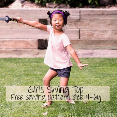 Free Sewing Patterns for Girls – Swing Tee