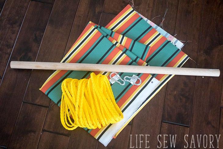 DIY Hanging Chair sewing tutorial