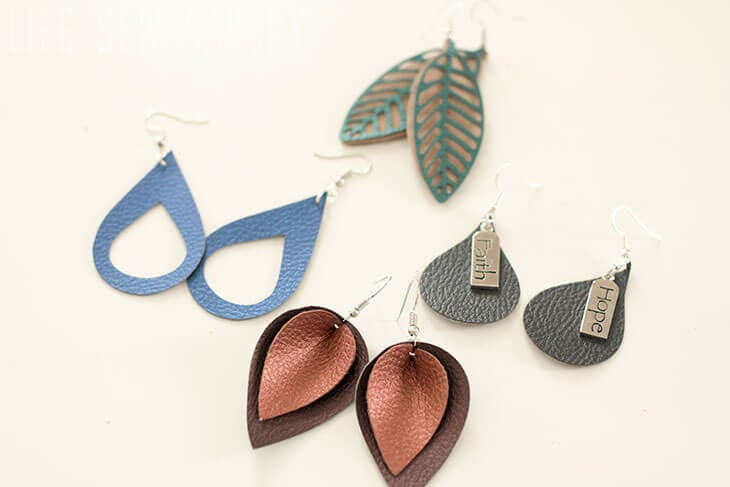 leather earrings DIY