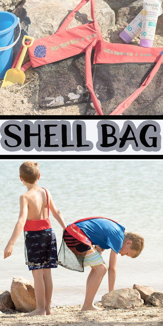 This Seashell bag sewing tutorial is a sponsored post,  but all opinions are my own.