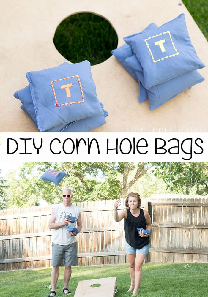 How to Make Corn Hole Bags a sewing tutorial from Life Sew Savory