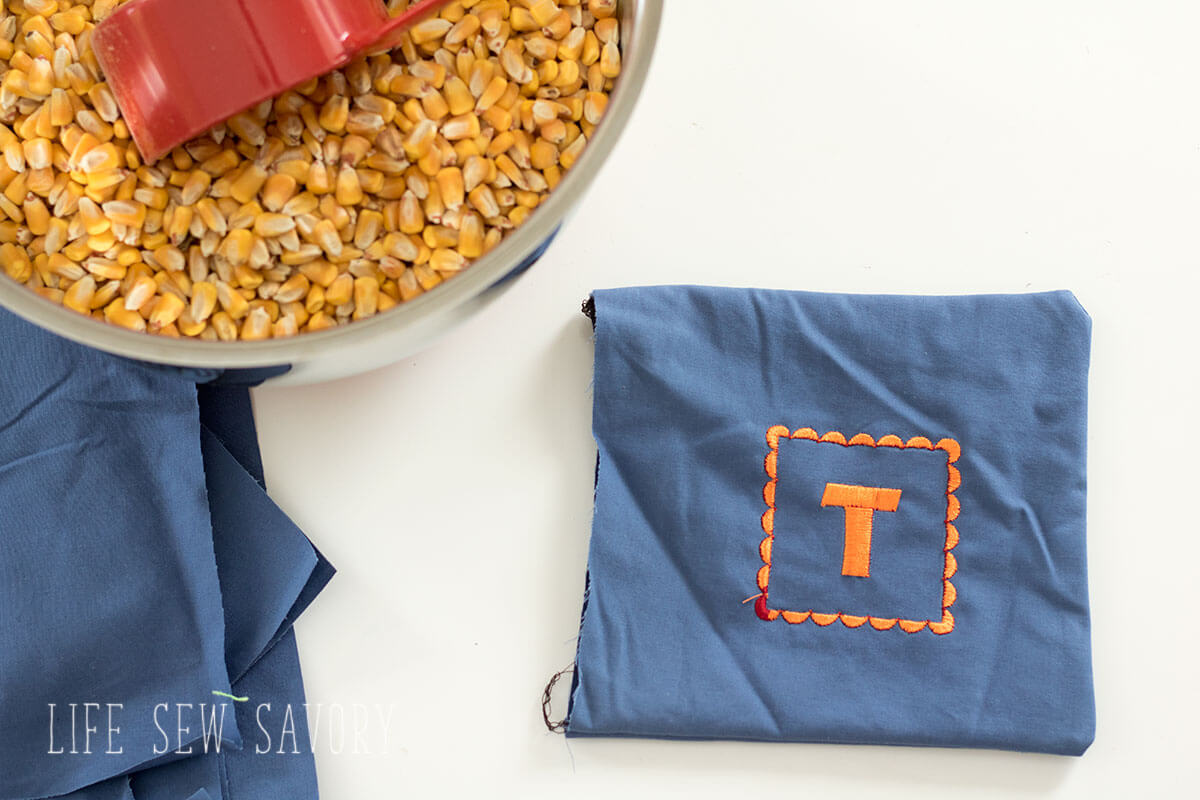 DIY corn hole game bags