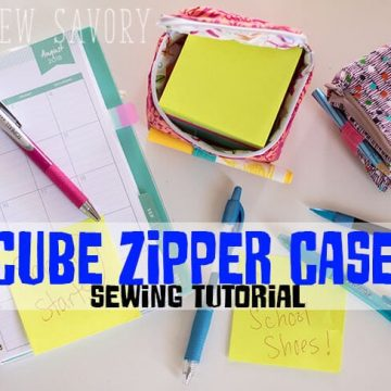 Post-it® zipper cube social