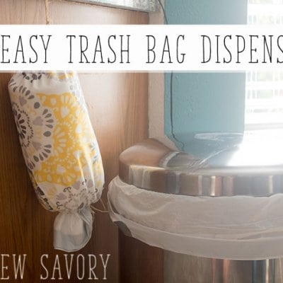 DIY Trash Bag Dispenser