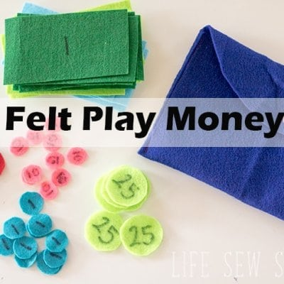 Felt Play Money for Kids