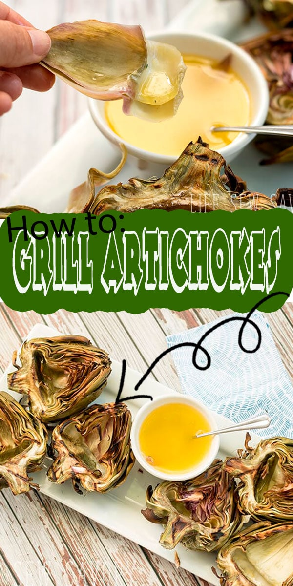 grilled artichokes. Anything is good when dipped in garlic butter, but the amazing flavor of grilled artichoke is a great addition to any meal.