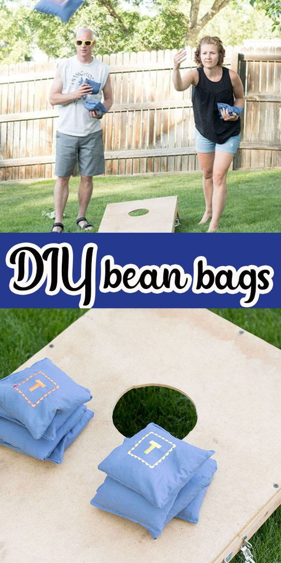 """Today I'm going to show you how to make corn hole bags {or bean bags as I called them for years}. We called this game """"bags"""" growing up in WI, but other places seem to call in corn hole, so we will call it both for the purposes of this DIY tutorial."""