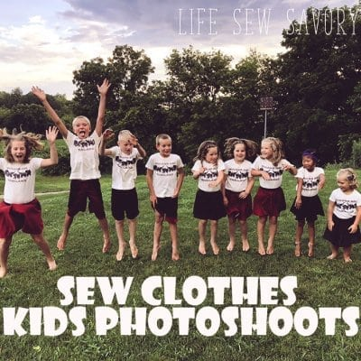 Sew your own clothes for family photos