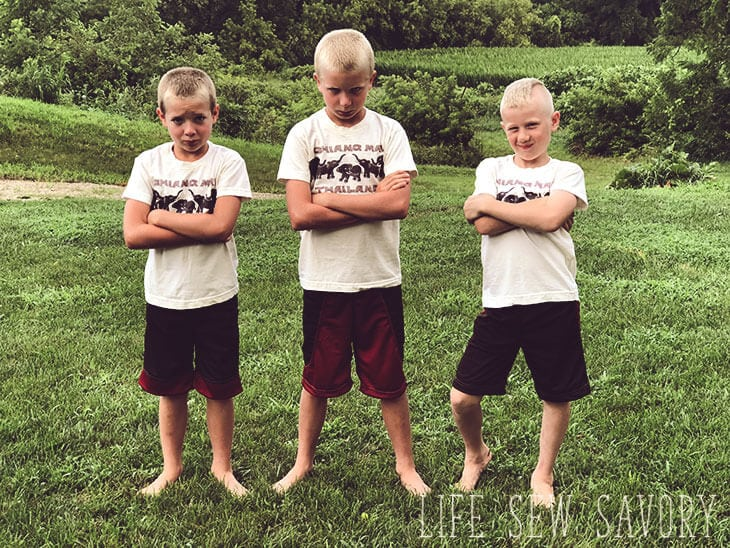sew shorts for kids