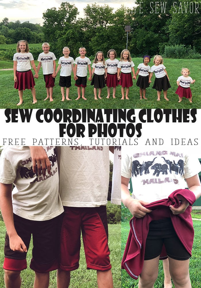 sew your own clothes for family photos. Free sewing patterns, tutorials and coordinating outfit ideas from Life Sew Savory