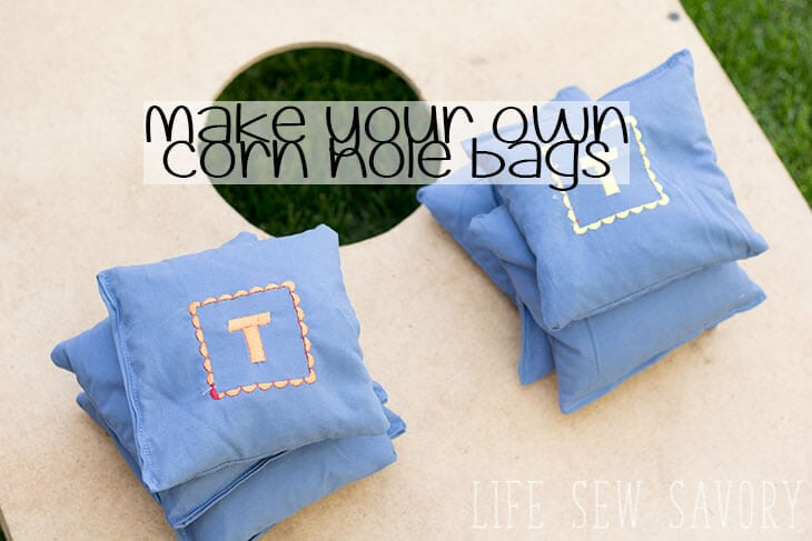 How to Make Corn Hole Bags