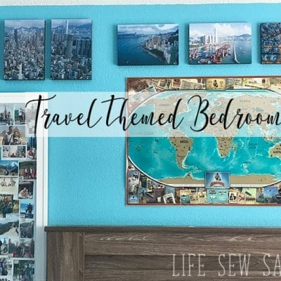 Travel Themed Bedroom a with Printage Inc