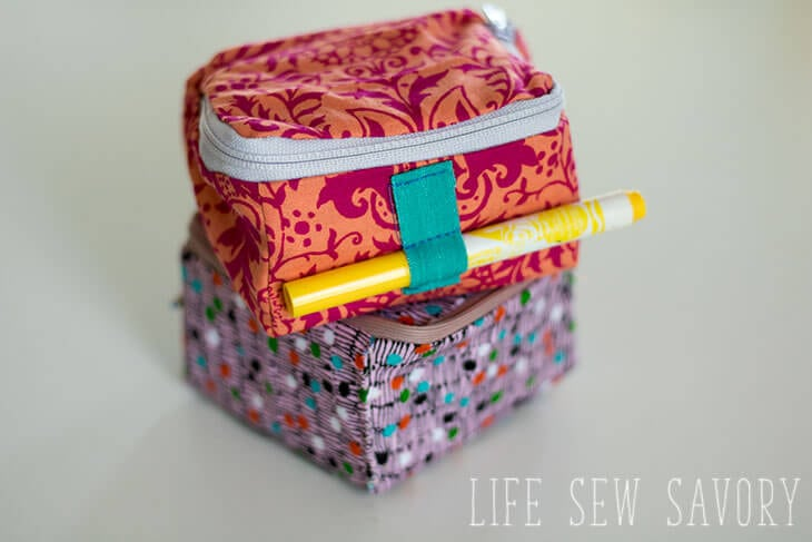 cube zipper case sewing tutorial