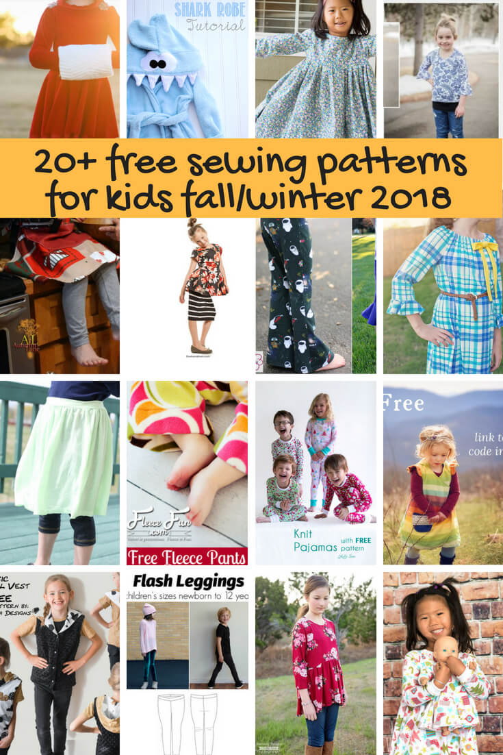 Free Sewing Patterns for kids fall/winter 2018 from Life Sew Savory