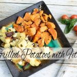 Grilled Potatoes with Feta and Basil