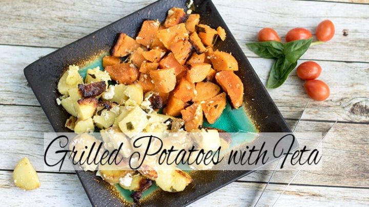 Grilled Potatoes with Feta