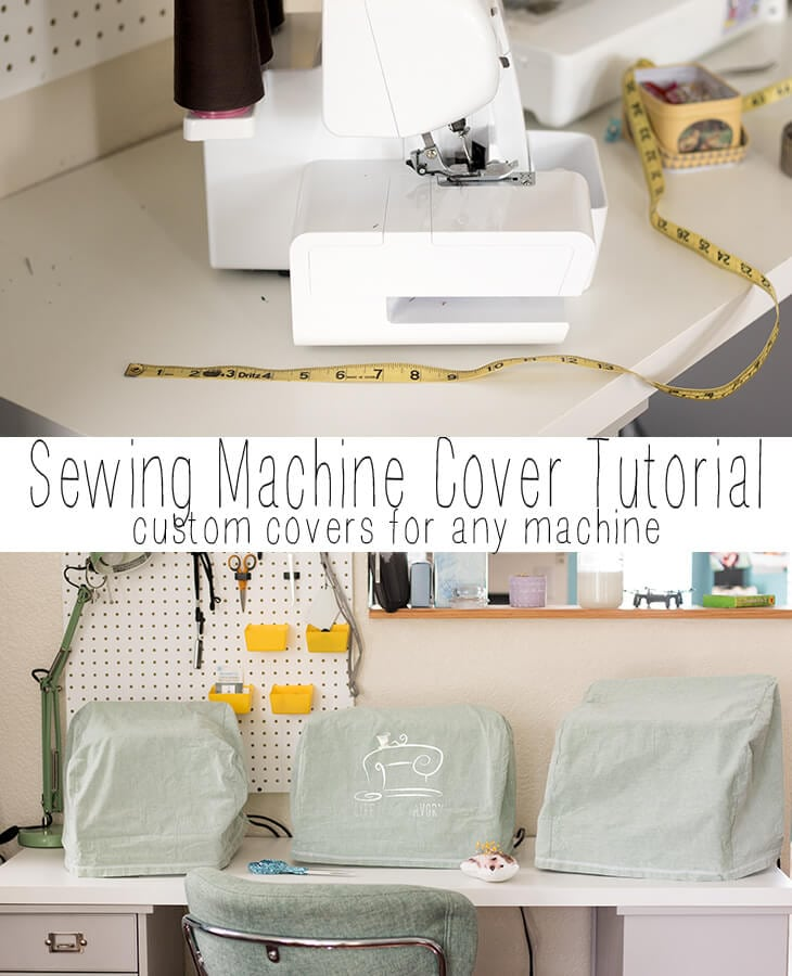 how to make a sewing machine cover a simple sewing tutorial from Life Sew Savory