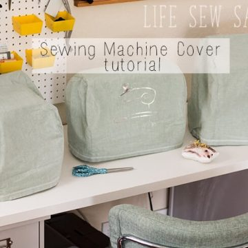 sewing machine cover sewing tutorial
