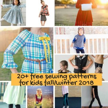 Free Sewing Patterns for kids fall/winter 2018
