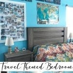 travel themed bedroom ideas and inspiration for travel home decor from Life Sew Savory