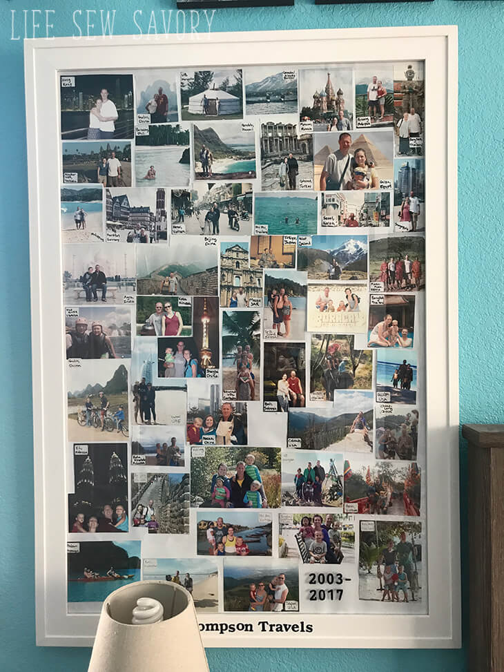 travel photo collage frame
