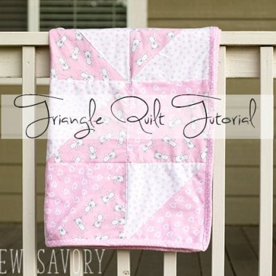 Triangle Baby Quilt Sewing Tutorial