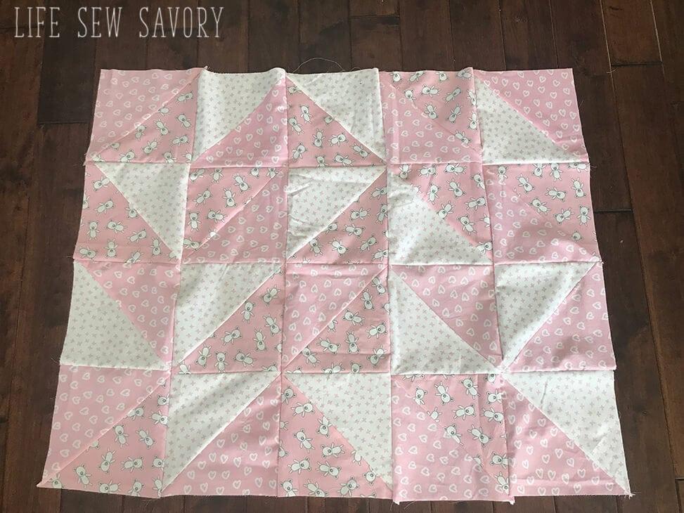 Top of baby quilt