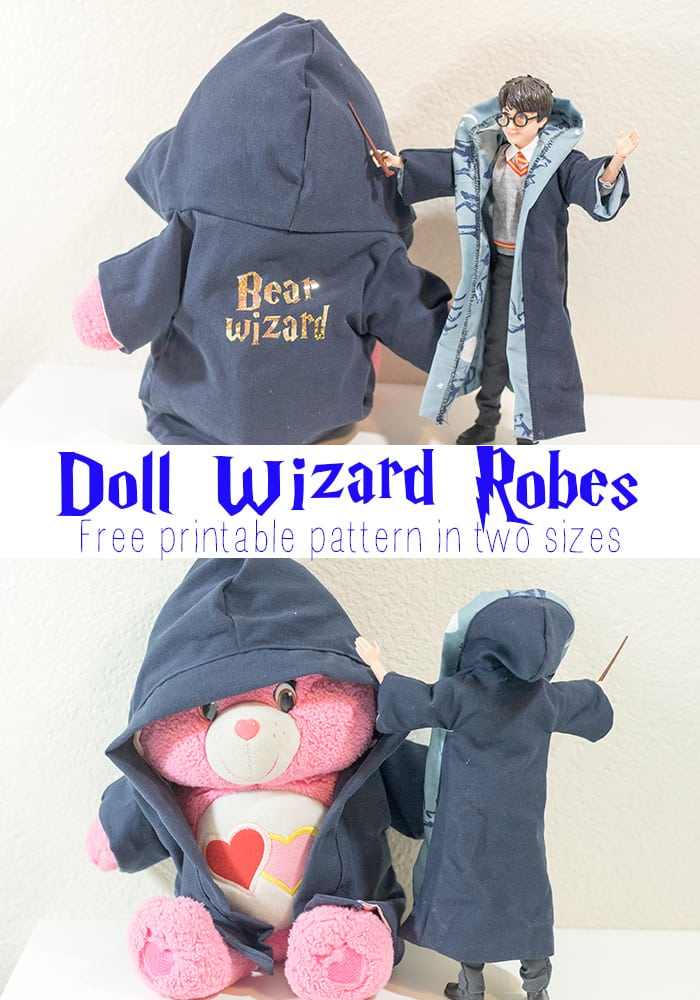 Free Printable Doll Clothes Patterns - Harry Potter Robe from Life Sew Savory
