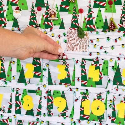 Christmas Tree Countdown Calendar Sewing Pattern