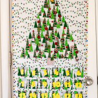 Christmas tree countdown calendar