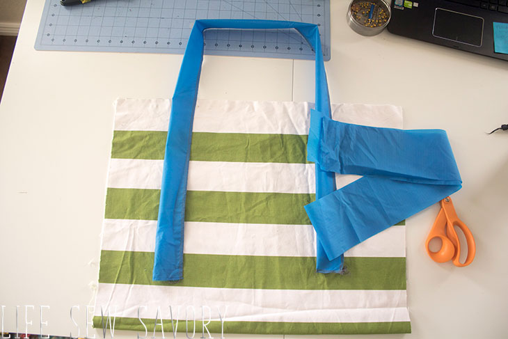 How to sew a beach bag sewing tutorial