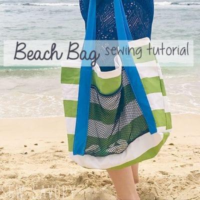 Beach Bag Tutorial Easy Sewing
