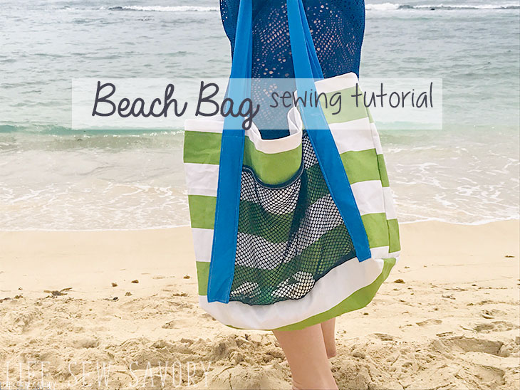 beach bag sewing tutorial
