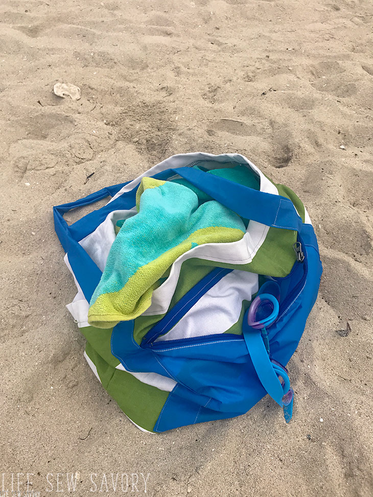 How to sew a beach tote