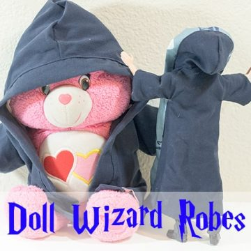 Free Printable Doll Clothes Patterns - Harry Potter Robe