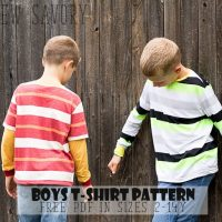 Free Shirt Patterns - Boys T-Shirt