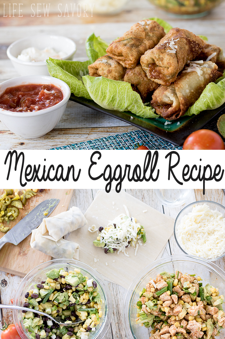Southwest Eggroll Recipe for Mexican style rolls from Life Sew Savory