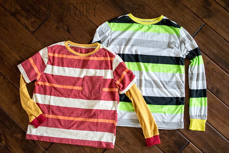 Boys t-shirt free patterns and tutorial
